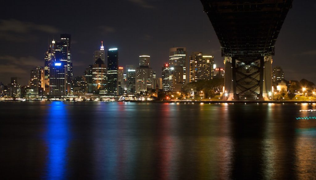 City from Milsons Point Nighttime 600x400pxl