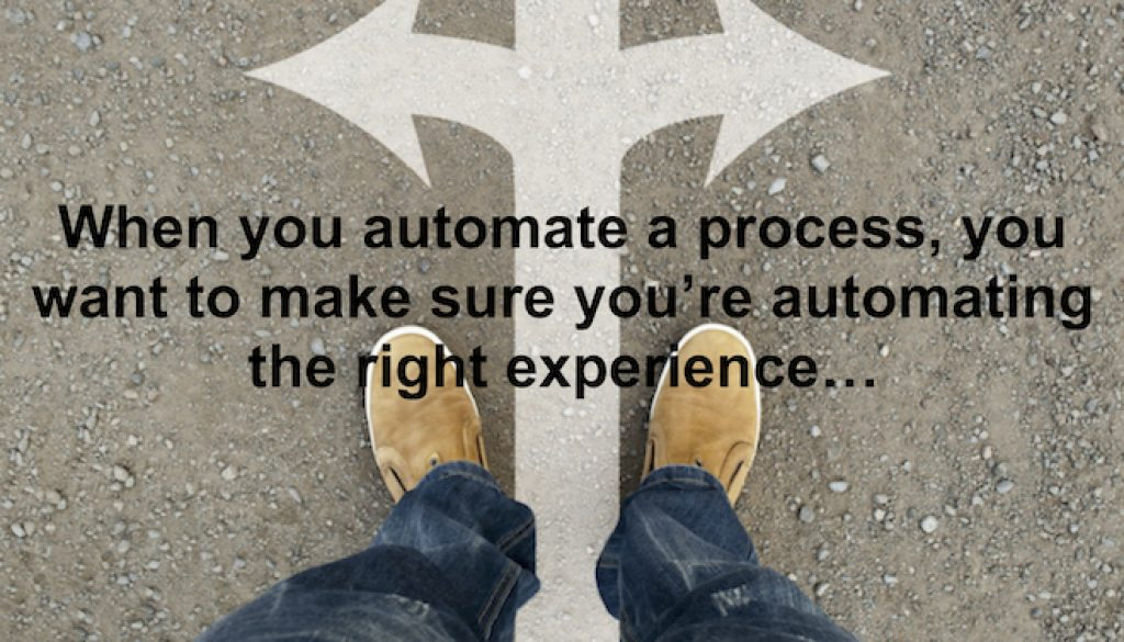 Automate the right experience 660x434pxl