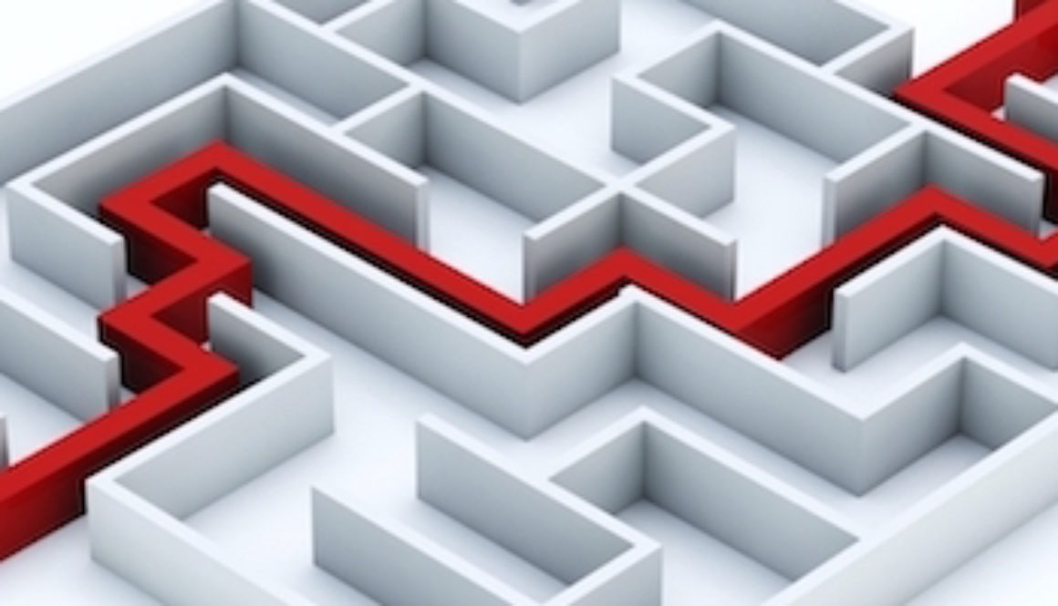 BANNER Red line through the maze 600x200