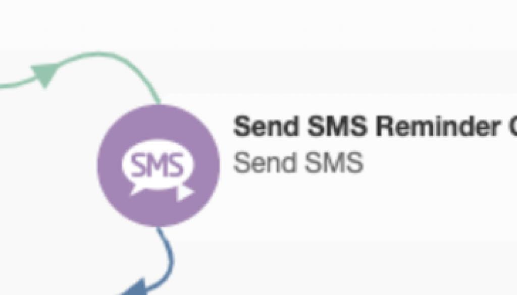 SMS Send Element Campaign Canvas