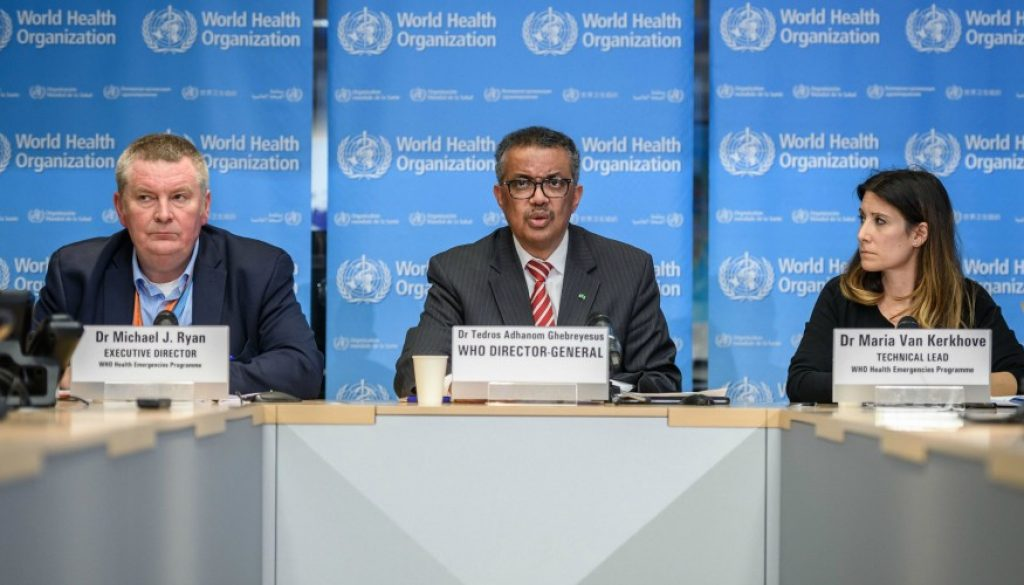 WHO Press Conference PHOTO Fabrice Coffrini AFP via Getty Images