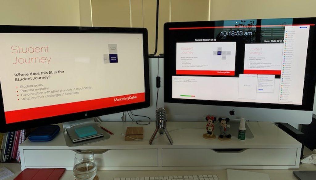 Webinar Set-up Two Monitors 800pxl