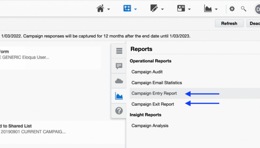 Eloqua Campaign Canvas - Operational Reports