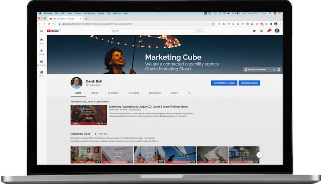 Marketing Cube YouTube Channel 800x470pxl